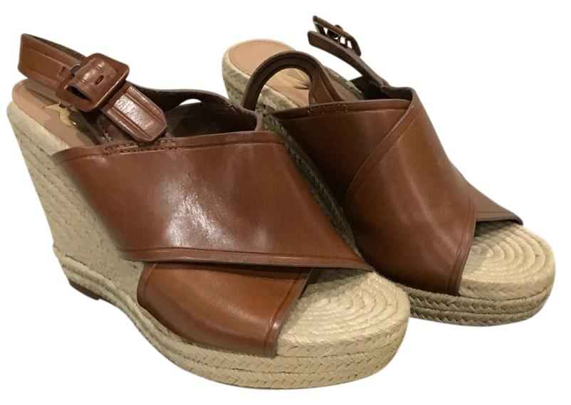 Vince Camuto Brown Leather 6.5 Davena Wedges Size US 6.5 Leather Regular (M, B) 23807e