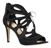 Vince Camuto Calivia Cutout BLACK TRUE SUEDE Sandals