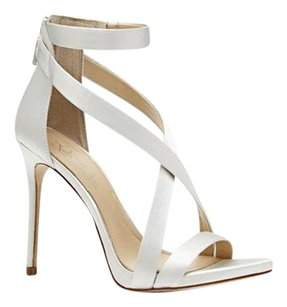 Vince Camuto Imagine Devin Crisscross Strap silver luster satin Formal