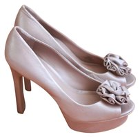 Vince Camuto Pearlized Champagne Platforms