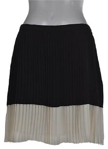 Vince Camuto Womens Black Pleated Color Block Above Knee Career Skirt Multi-Color