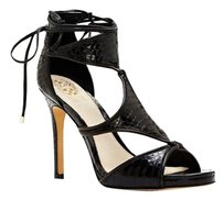 Vince Camuto Rae Geo Panel Lace Up High Heel black Pumps