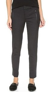 Vince Charcoal Gray Leather Pants