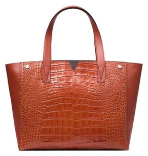 Vince Leather Crocodile Tote Luxury Shoulder Bag