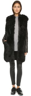 Vince Leather Fur Luxury Lambskin Fur Coat