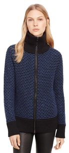 Vince Navy Leather Sweater