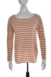 Vince Womens Ivory Scoop Sweater