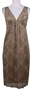 Vince Womens Gold Floral Dress