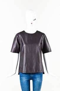 Vince Deep Leather Top Burgundy