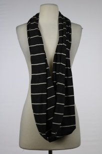 Vince Vince Brown Striped Infinity Scarf Os Cotton Casual