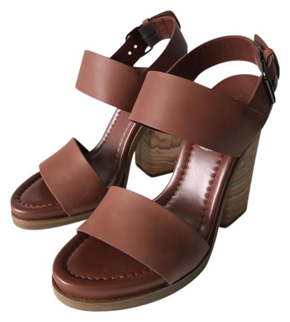 Vince Haley Leather Whiskey Sandals On Sale 63 Off