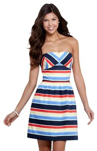 Vineyard Vines short dress Curtain Bluff Strapless Dress Striped Bold Pencil on Tradesy