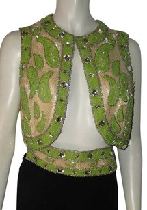 VINTAGE RAYMOND MARTIER New York All Beaded w/CRYSTALS Top MULTI