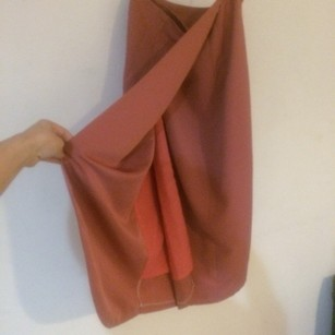 Wraparound Maxi Side Button Skirt Blush Pink