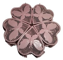 Vintage Vintage metal pink butterfly jewelry box 5 inch by 5 inch