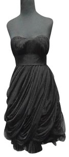 Vivienne Tam Nylon Strapless Roughed Formal Knee Length 4340a Dress