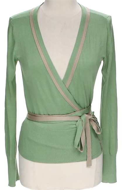 Preload https://item1.tradesy.com/images/vivienne-tam-sage-and-gold-belted-cardigan-size-8-m-10525315-0-1.jpg?width=400&height=650