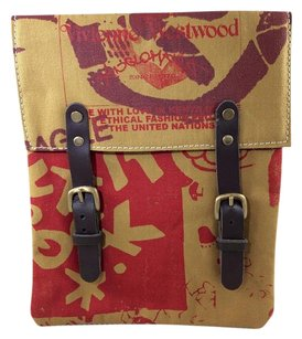 Vivienne Westwood Ethical Fashion Two Buckle Kenya Ltd Edition Multi-Color Clutch