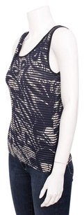 Vivienne Westwood Anglomania Black Abstract Print Linen Cotton Tank Top Blue