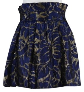 W118 by Walter Baker Womens Floral Skirt Navy