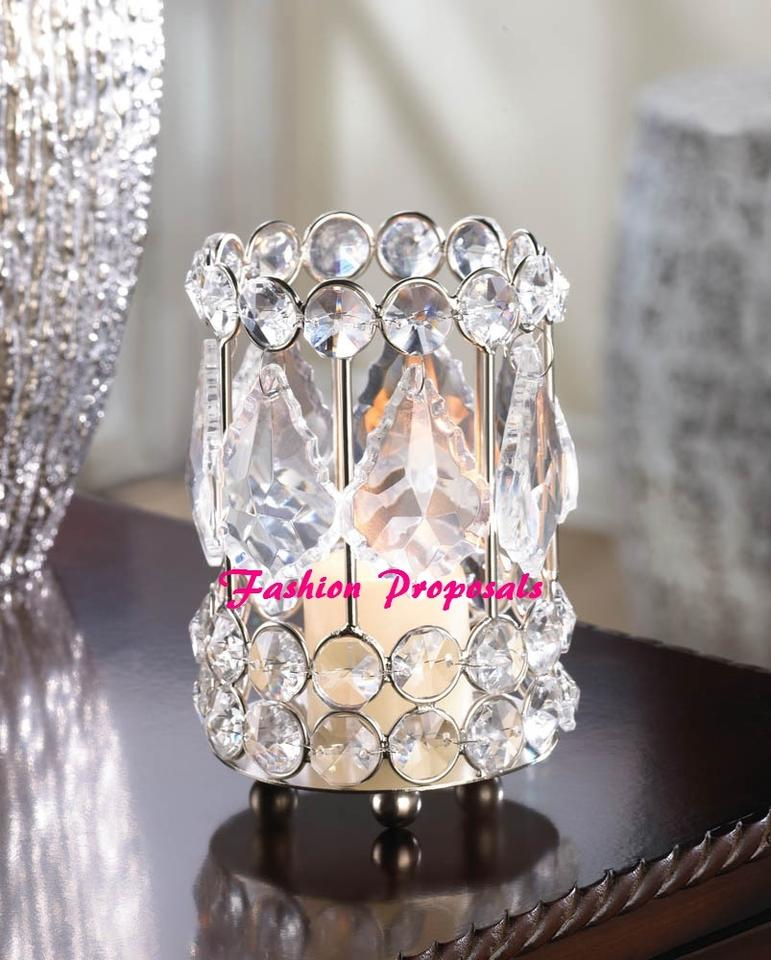 50 Incredible Non Traditional Wedding Dresses Under 500: Wedding Crystal Candle Holder Centerpiece Pure Crystal