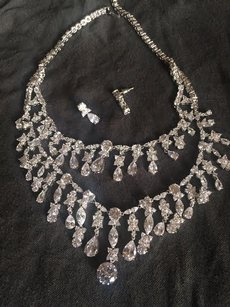 Wedding Cz Necklace Set