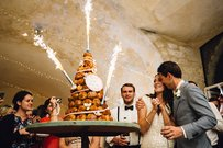 Wedding Sparklers Cake Dessert
