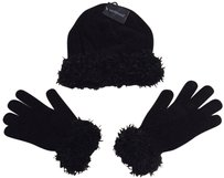 Westbound Gloves and Hat set with Faux Fur Trim