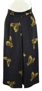 Whistles Womens Bee Print Cropped Palazzo Trouser Skirt Pants