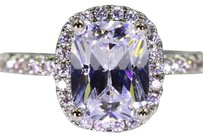 White 2.75ctw 5aaaaa Luxury Italian Cubic Zirconia Silver Plated #6142 Engagement Ring