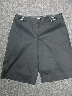 White House | Black Market Knee Length Flat Casual Sm7667 Shorts Black