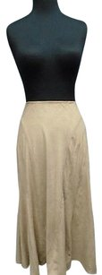 White House | Black Market Stretch Suede Feel Causal Maxi 6103a Skirt Beige