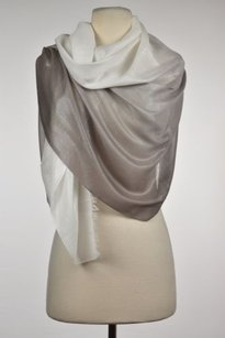 White House | Black Market White House Black Market Womens White Ombre Scarf One Casual