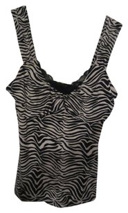 White House | Black Market Zebra Print Xs Fun 11492 Top Blacks