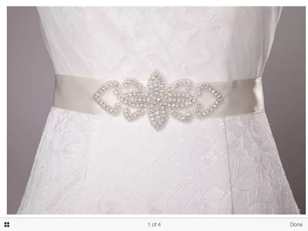 White/ Silver Color Sash