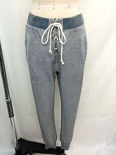 Wildfox Wildfox Gray Lace Up Sweat Pants