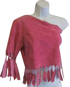 Wilsons Leather Boho Gypsy Pink Fuchsia Top fuschia