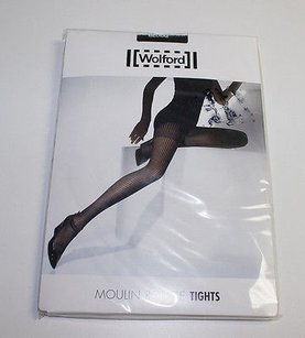 Wolford Wolford Black Moulin Rouge Tights Alternating Stripe Patterns