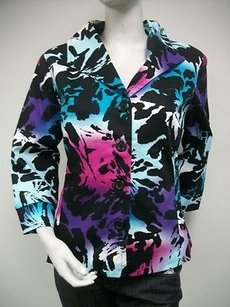 Womyn Blazer Print Multi-Color Jacket