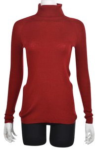 Worth Petites Womens Turtleneck P Textured Wool Casual Sweater