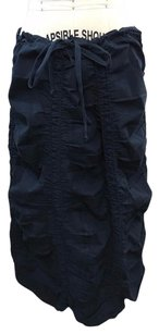 XCVI Ruched Drawstring Waist Maxi Skirt Navy