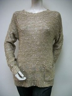 Ya Los Angeles Sequin Yl12622 Cotton Blend Sweater