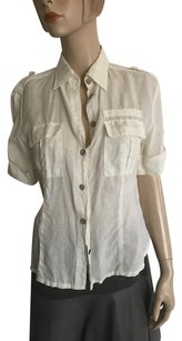 Yes! Miss Button Down Shirt Off White