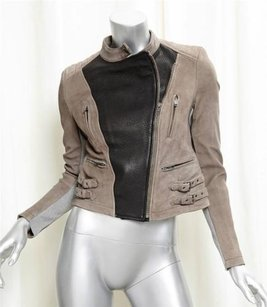 Yigal Azroul Azrouel Taupe Black Jacket