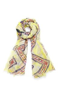 Yigal Azrouël Yigal Azrouel Yellow Camera Printed Scarf