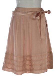 Yoana Baraschi Womens A Line Knee Length Casual Skirt Pink