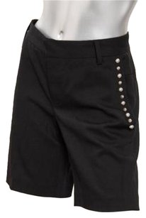 Zadig & Voltaire Black Blend Silver Studded Simi Dress Shorts