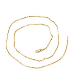 Zales 14K Yellow Gold Dainty 20 Inch Unisex Rope Twist Chain Necklace
