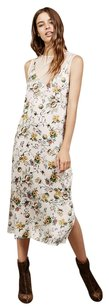 Cream floral Maxi Dress by Zara Bershka Slip