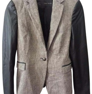 Zara black grey Blazer